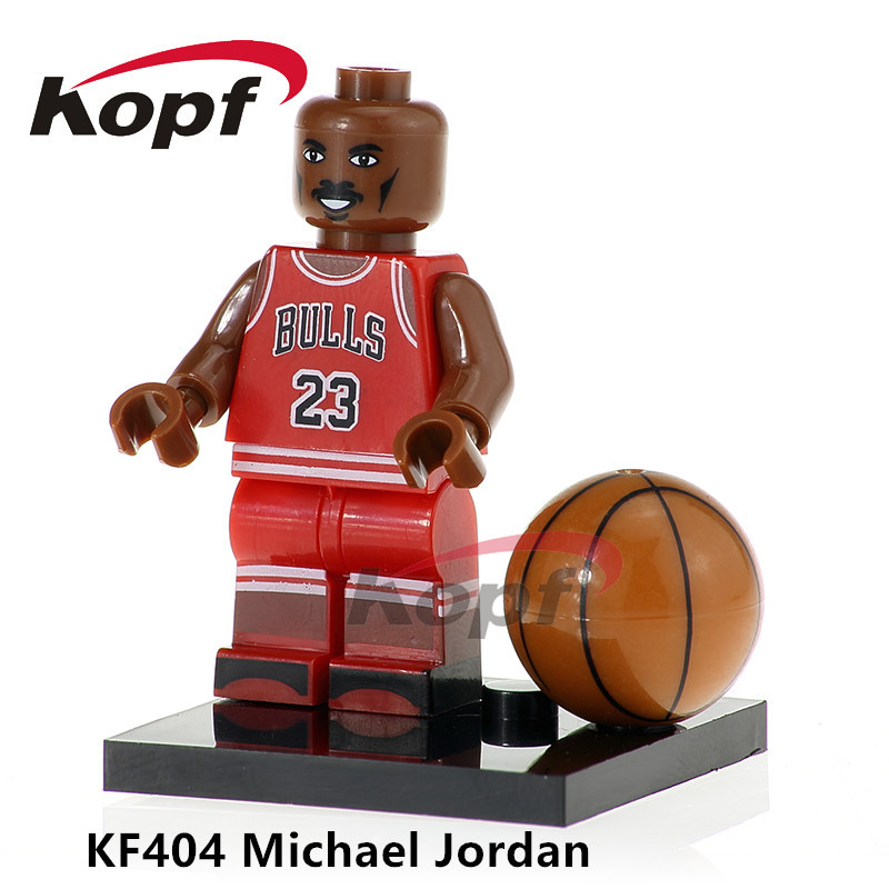 Single Sale NBA Professional Basketball Player Michael Jordan Kobe Bryant Stephen Curry Building Blocks Children Toys Gift KF404 stephen brown free gift inside forget the customer develop marketease