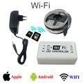 WIFI RGB LED Strip 2835 RGB Led Tape Lighting DC 12V 5M  Flexible String Light + WIFI Controller + DC12V Adapter luces led tiras