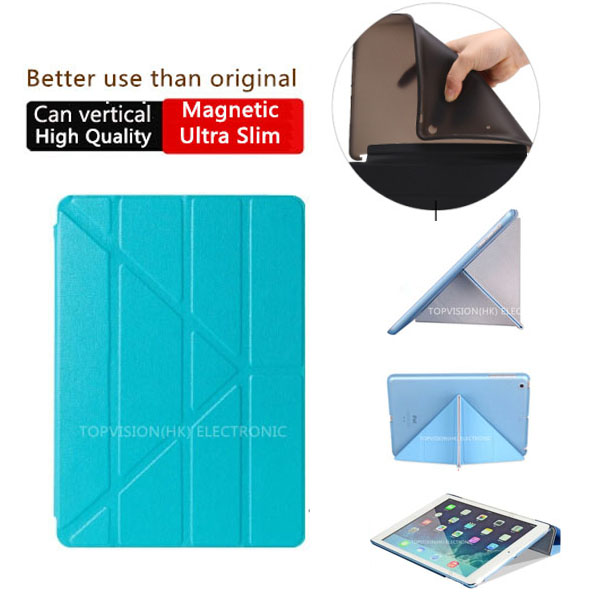 Nice hard & tpu silicone flexible soft back slim magnetic smart cover for apple ipad air 2 case (iPad 6) thin like 360 rotate nice hard
