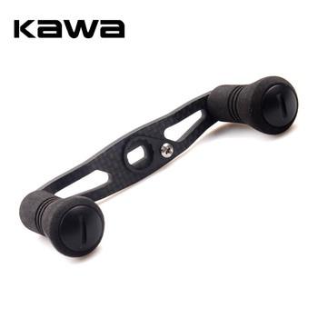 цена на KAWA Fishing Reel Handle Carbon Fiber for Shimano Daiwa Abu Baitcasting Eva Knob Hole size 7*4/8*5mm Length 93mm Free Shipping