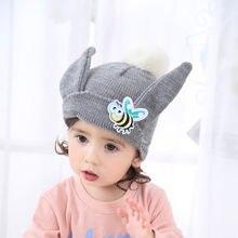 Bébé Enfant Enfants Garçon Fille Tricoté Caps Mignon Chapeaux Crochet hiver  Chaud Chapeau Chapeau nouveau- 3efcfb75f5b