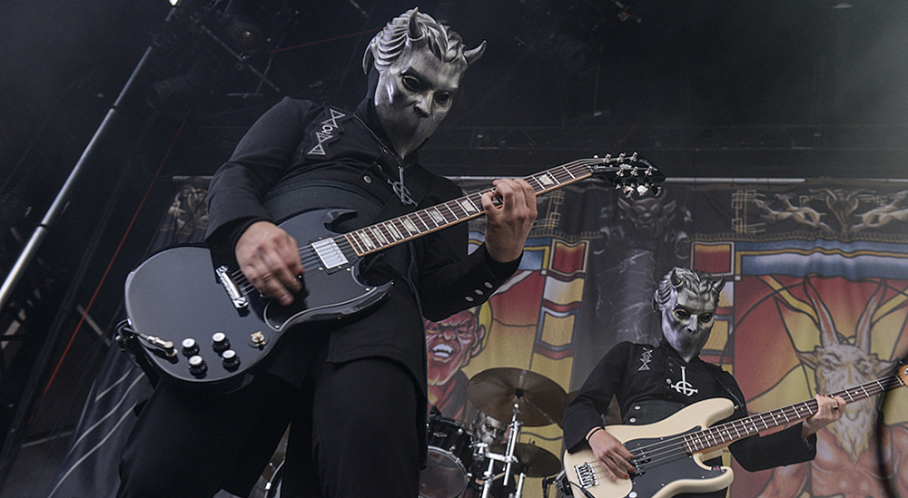 Ghost Nameless Ghouls Mask Cosplay Ghost B.C Heavy Metal Doom Hard Rock Roll Band Latex Helmet Masks Halloween Party Props1