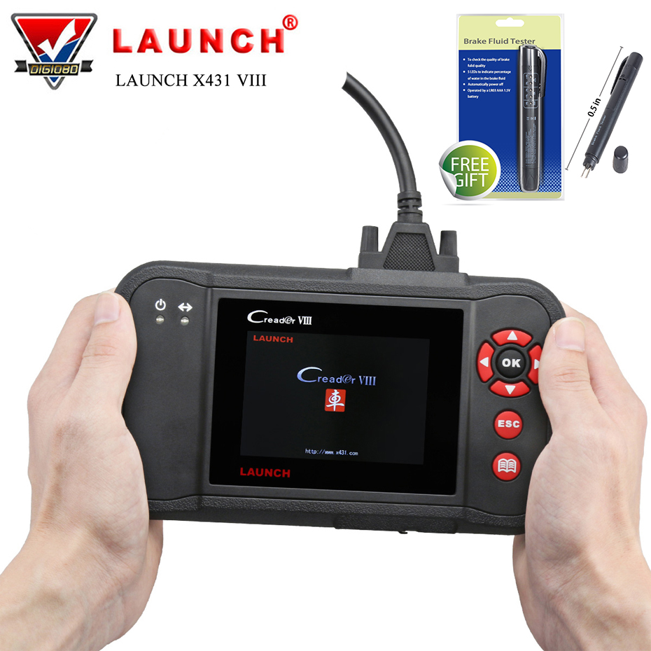 Launch X431 VIII OBD2 Scanner Vehicle Code Reader Auto Scan Tool for ENG AT ABS SRS EPB SAS Oil Service Light Reset CReader 8 obd2 scanner launch creader 8001 car code reader full obdii eobd auto diagnostic scanner tool with abs srs epb oil service