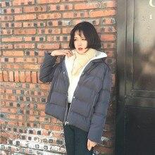 2016 зима свободные короткие дизайн хлеб небольшой хлопка-ватник ватные куртки зима утолщение верхней одежды женщины