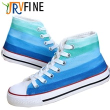 YJRVFINE Higth Top Blue Memories Gradient Customizable Shoes Graffiti Casual Breathable Shoes for Mens Boys S187M