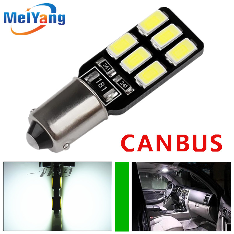 BA9S 12 SMD 5630 LED Canbus lamps Error Free t4w h6w Car LED bulbs interior Lights Car Light Source parking 12V White 6000K 2pcs t10 canbus error free car license plate lights 9 smd led light bulbs 194 w5w auto wedge panel interior light