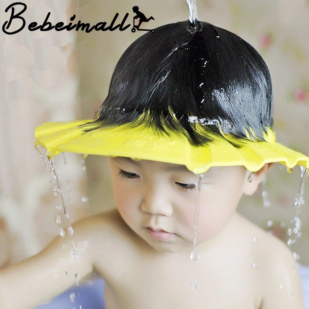 Resultado de imagem para Chapéu anti-shampoo nos olhos para bebês