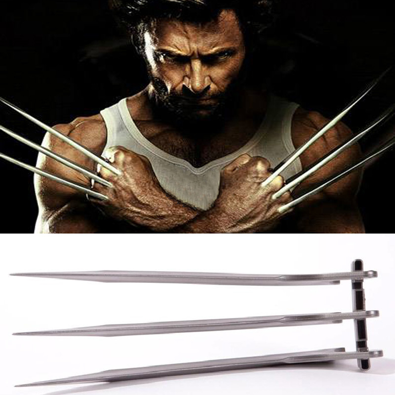 Takerlama 2pcs/pair X-Men Wolverines Logan Blade Claw Paw 1:1 Cosplay Prop Halloween Cosplay Prop Super Hero Cosplay Weapons Toy