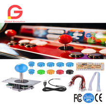Zero Delay Arcade Game DIY 10x Push Buttons + Joystick + USB Encoder Board for Mame Jamma & Other PC Fighting Games AC929