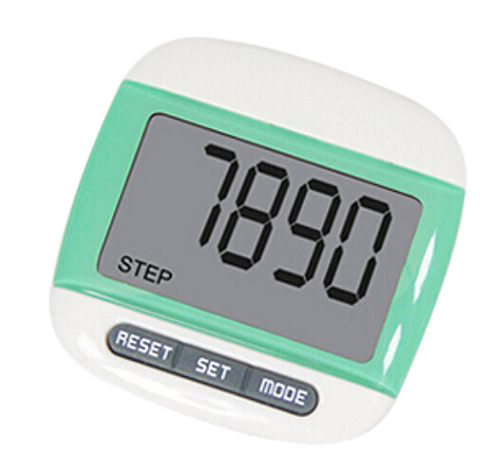 New Multi-function Pedometer Distance Calorie Counter 5 Steps Buffer Error Correction Large LCD Display with Belt ...