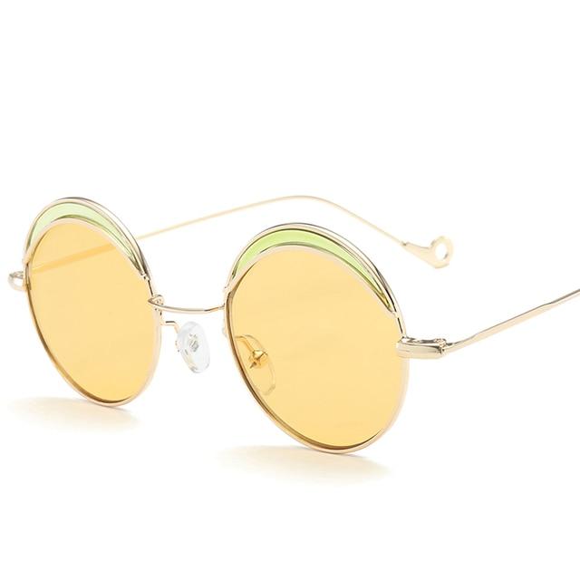 Gafas Mujeres De Vintage Sol Hombres Cristal Redondo rxoBCWde