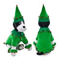 かわいいペットクリスマス犬服ウィザードクリスマスツリー面白いスタイル用犬子犬猫コスプレ衣装2脚グリーンコート付き帽子