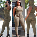 2017 Mulheres Bodysuit Jumpsuits Rompers Mulheres Macacão Sem Mangas Sexy Backless Bodycon Comprimento Total da American Apparel