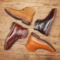 2019 Весна Новый наивысшего качества Мужские красные ботинки модные натуральная кожа люксовый бренд крылья Формальные ботильоны зимние мото
