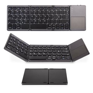 Image 1 - jincomso Portable Folding Wireless keyboard bluetooth Rechargeable BT Touchpad Keypad for IOS/Android/Windows ipad Tablet