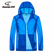 LXIAO Summer Men Jackets Outdoor Sport Hiking Jacket Anti-UV Sun Protection Coat Quick-dry Ultra-thin Waterproof Man