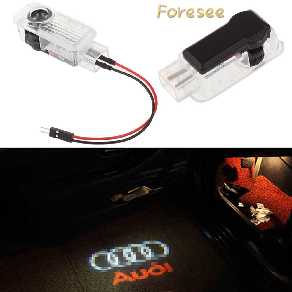 Foresee 2pcs (For Audi) LED Car door welcome light courtesy led car laser projector Logo Ghost Shadow Light