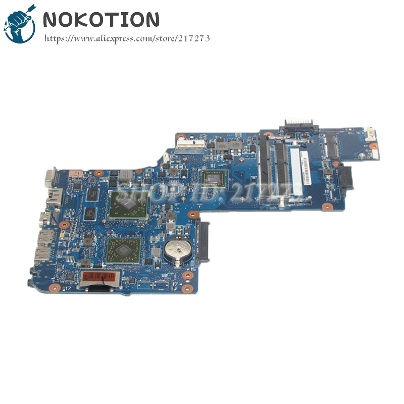 NOKOTION New Motherboard For Toshiba Satellite C850D C855D L850D L855D Laptop Main board H000051830 E2-1800 cpu with graphics new laptop us keyboard with frame for toshiba satellite p750 p750d p755 p755d p770 p770d p775 p775d qosmio x770 x775