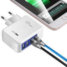 Multiple USB Charger EU Plug Rapid Fast Chargers for iPhone XS Max Samsung S9 Xiaomi MIX 2S Charging Cable Micro 4