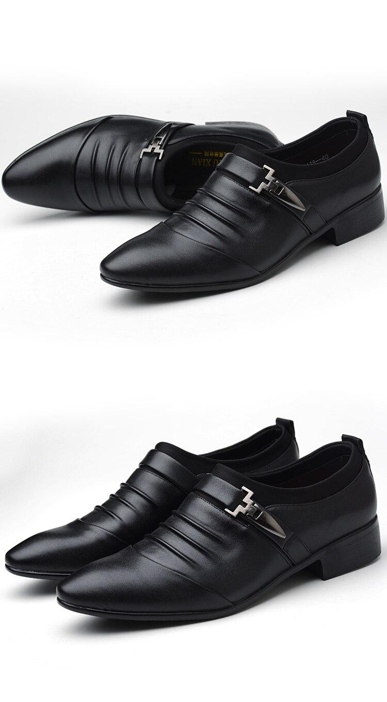 Casual sapatos de couro sapatos de casamento