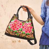 New Multi Women S Handbags Hot Vintage Flowers Embroidery Embroidered Shopping Bags Ladies Women S Big