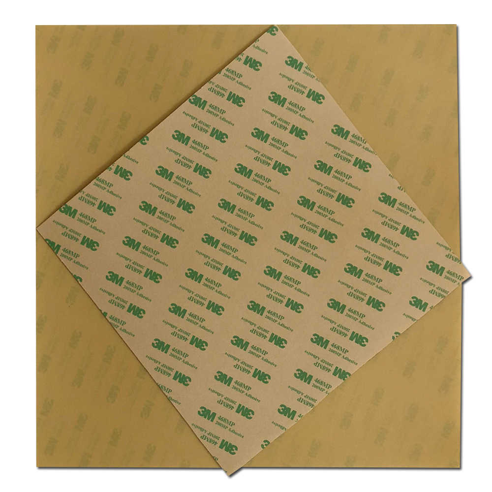 ENERGETIC 0.2 มม.แผ่น PEI 3D เครื่องพิมพ์สร้างพื้นผิว 320x310 มม.3 M 468MP เทปสำหรับ CR-10 pro, CR-X 3D เครื่องพิมพ์ความร้อน