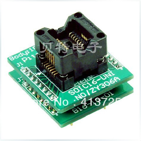 SmartPRO X5/X8 SOIC16 forward ZY306A test socket programming adapters mikado swingfish 8 см 306 уп 5 шт