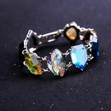 Colorful Geometric Women's Link Bracelet