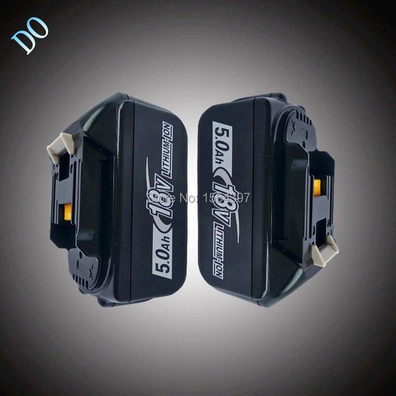 2 pcs Power Tool Batterie Rechargeable Au Lithium Ion Packs 5000 mah Remplacement pour Makita 18 v BL1840 BL1850 BL1830 LXT400 194205-3