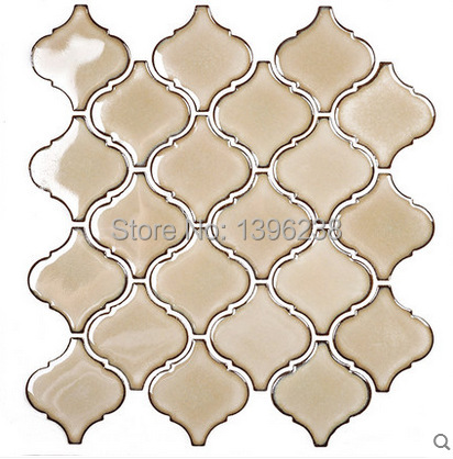 Polished Beige Ceramic Mosaic Tiles,Kitchen backsplash wall decor,Bathroom shower Warm color Art wallpaper,FREE SHIPPING! LSDL04 art ceramic