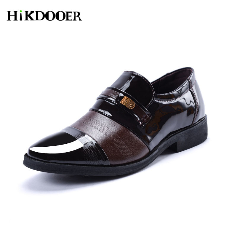 New Arrival Men Formal Slip On Shoes Pu Leather Flat Shoes Top Quality sapato social masculino Male Business Shoes 2016 new arrival top quality men s slip on basic oxfords real cowhide leather formal wedding dress shoes men sapato masculino 46