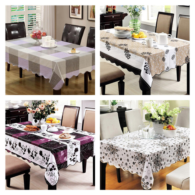 pvc tablecloth waterproof plastic disposable round table wipe clean pvc vinyl dining kitchen table cover sizes. beautiful ideas. Home Design Ideas