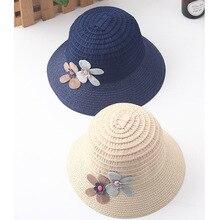 3652df77 IMOAA New hat children summer straw female baby cool fisherman hat fashion  flower sun hat(