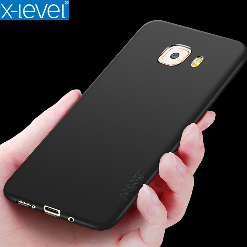 For Samsung C9 Pro Case C9 X-Level Guardian Series Soft Matte TPU Silicone Phone Cases For Samsung C9 Pro Ultra thin Back Cover