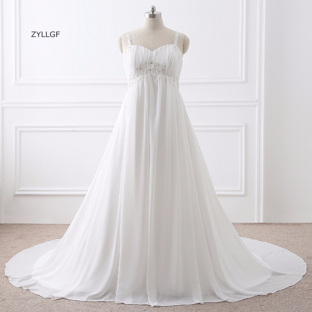 ZYLLGF Vestido De Noiva Estilo Princesa Corset Back Sweetheart Empire Waist Wedding Dress Large Size With Beadings Q99