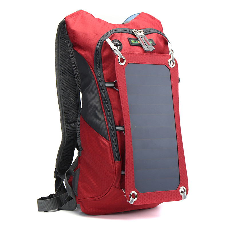 Top Outdoor Solar Backpack Cycling Climbing Hiking Bags Travel Solar Power Backpack with Solar Panel Climbing Bags Laptop Bag local lion spo464 outdoor cycling climbing ultra light breathable double shoulder bag backpack red
