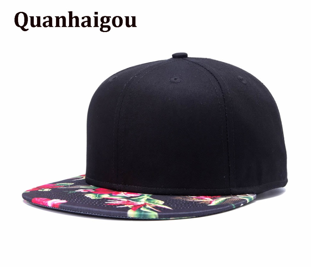 5caec56e9b4 Premium Floral Flower Hawaiian Spring Summer Autumn Adjustable Snapback  Hats Men s Women 2 Tone Hip-Hop Flat Bill Baseball Caps