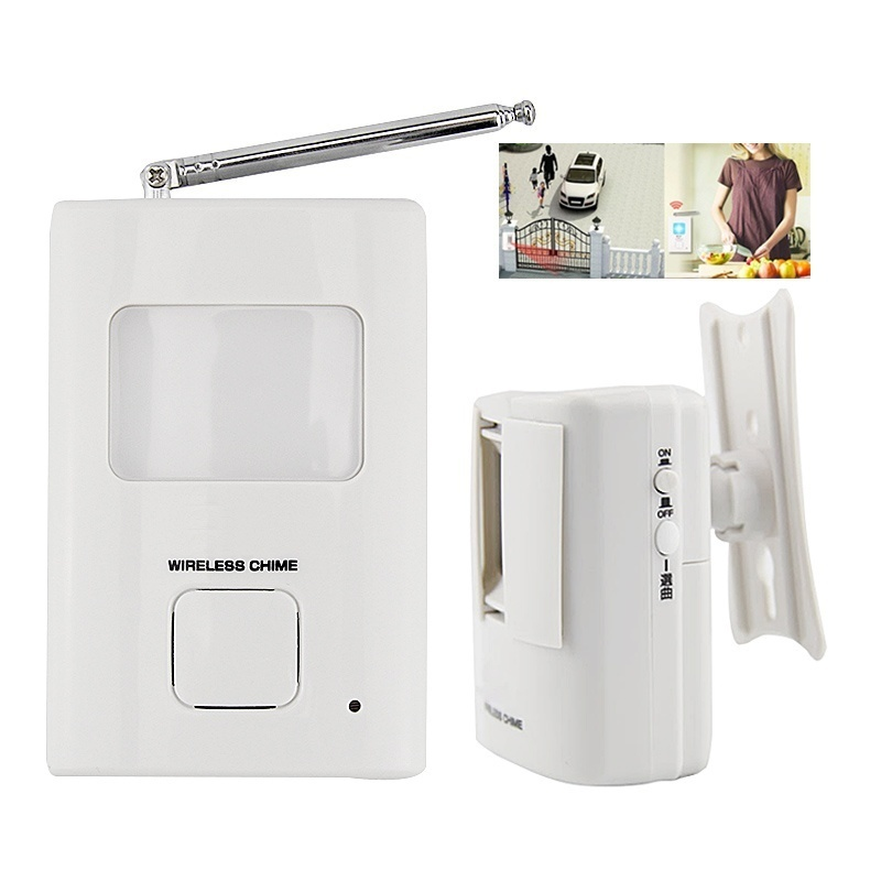 PIR Doorbell Wireless Infrared Movement Entry Bell Portable Door Bell Welcome Alarm Chime Motion Sensor Detector [NF] FC sensor motion door bell switch mp3 infrared doorbell wireless pir motion sensor voice prompter welcome door bell entry alarm z3