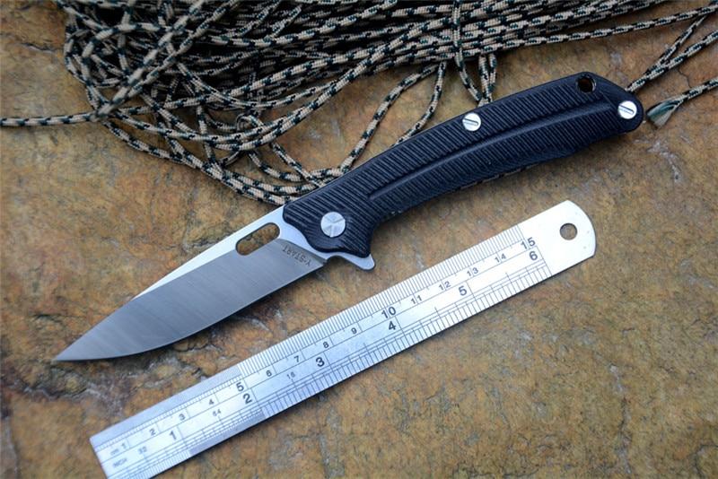 YSTART Folding Knife LK5013 Ball Bearing Washer 440C Blade G10 Handle Outdoor Camping Hunting Pocket Knife EDC Tool