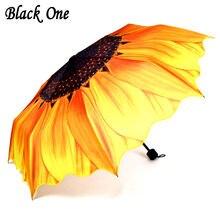Женский складной зонт желтый от дождя для женщин и девочек