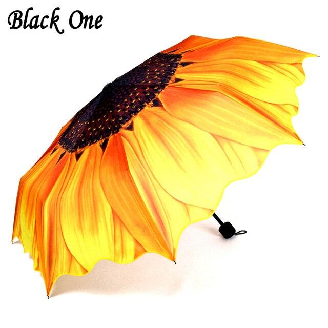 Красивый женский складной зонт от дождя для женщин, подарок для девочек, желтый зонт Paraguas Guarda chuva Parapluie Ombrello
