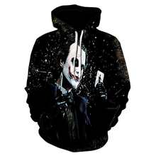 2018 new hot 3D digital printing hooded sweatshirt hip hop wind casual sweatshirt men and women long sleeve hooded pullover(China)