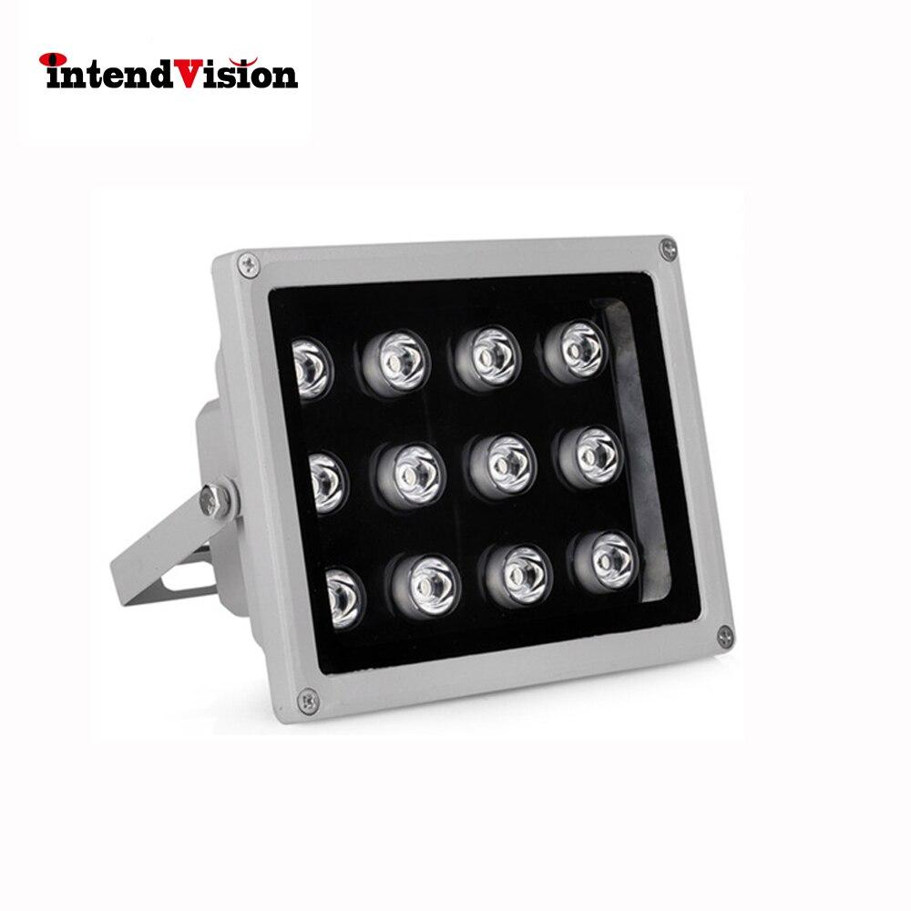 Illuminateur en Aluminium de LED d'ir de lumière de remplissage de télévision en circuit fermé d'intendance pour la caméra de télévision en circuit fermé avec la lumière 12 LED d'ir 12 V 2A illuminateur infrarouge de télévision en circuit fermé