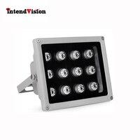 Intendvision CCTV Fill light IR LED Aluminium Illuminator for CCTV Camera With 12LED IR light 12V 2A Infrared CCTV Illuminator