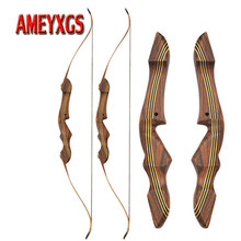 цена на 1set 60inch Archery 20-55lbs Recurve Bow Takedown Right Hand Bow American Hunting Bow Archery Competition Shooting Accessories