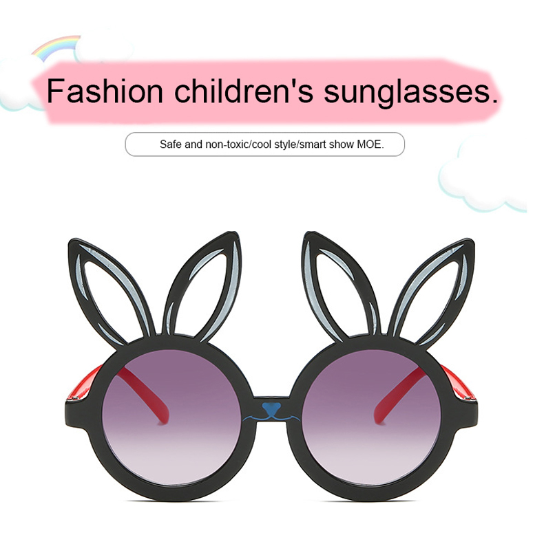 MINIMUM Cute rabbit shape Flexible Kids Sunglasses UV400 Eyewear Shades Infant Polarized Child Baby children Safety Sunglasses 1