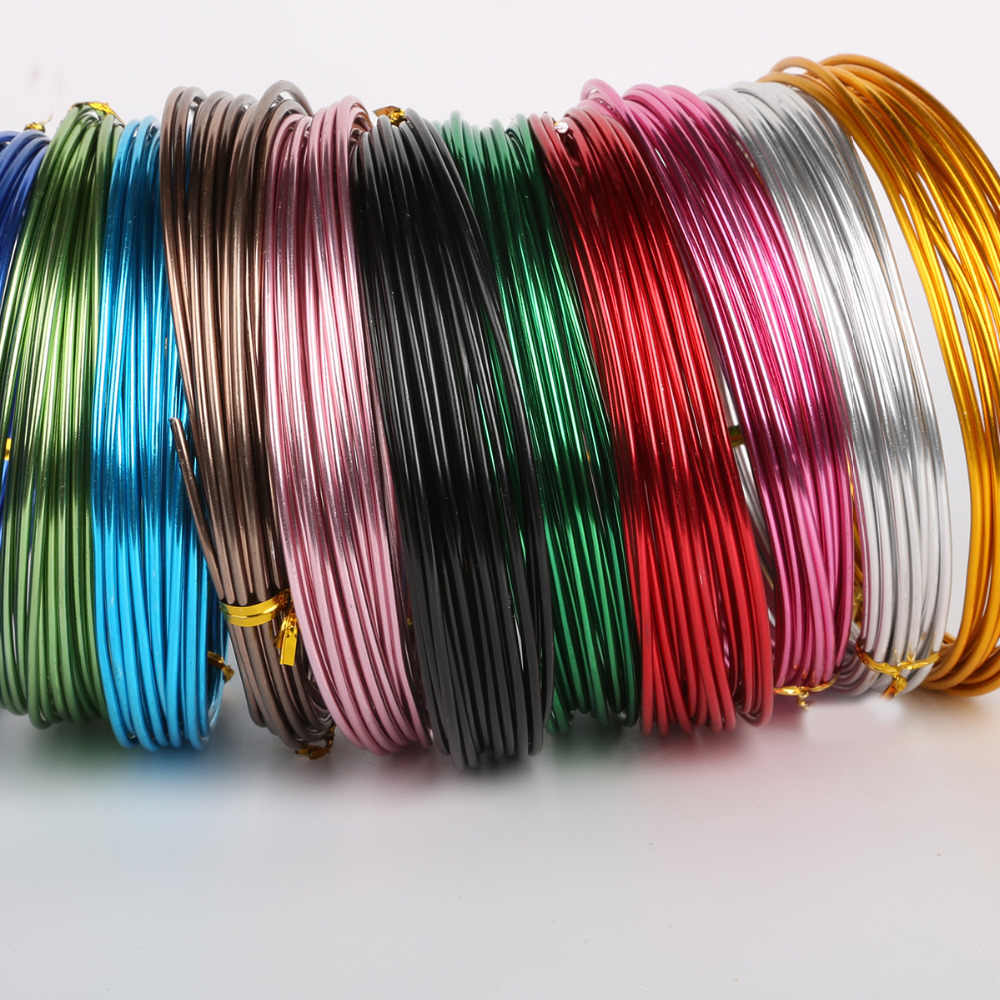 3-10 Meters Anadized Round Aluminum Wire 1mm/1.5mm/2mm/2.5mm Versatile Painted Aluminium Metal Wire, For DIY Jewelry Findings