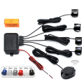 Universal Waterproof 12V 4 Parking Sensors Car Auto Reverse Backup Rear Radar System Kit Sound Alert Alarm Indicator Probe