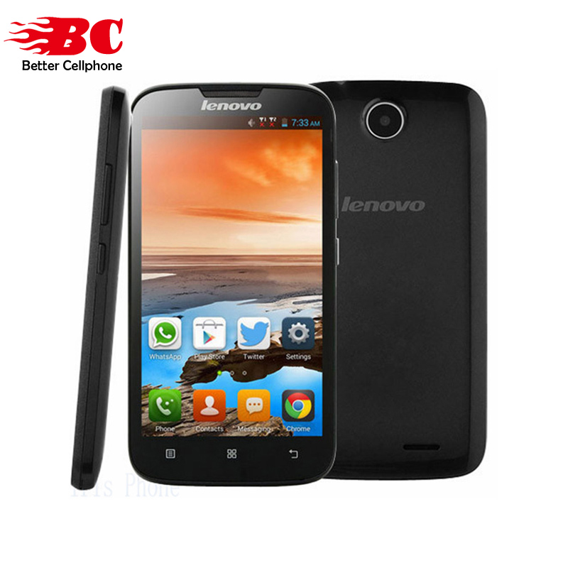 Nuevo original Lenovo A560 qual-comm MSM8212 Quad Core 512 MB 4 GB Android 4,3 2.0MP 3G GPS bluetooth WCDMA ruso multi-idiomas