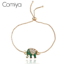 Comiya Bracelets For Women Zinc Alloy Chains Elephant Pattern Gold Color Pulseira Feminina Statement Accessories Indian Jewelry